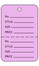 Large Unstrung Lavender Perforated Coupon Price Tags Pack Of 1000