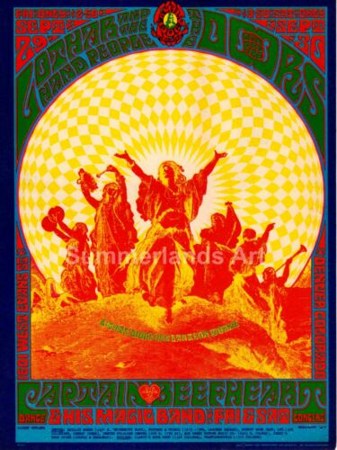 60/'s Concert Music Psychedelic QUALITY FINE ART PRINT Poster Canvas