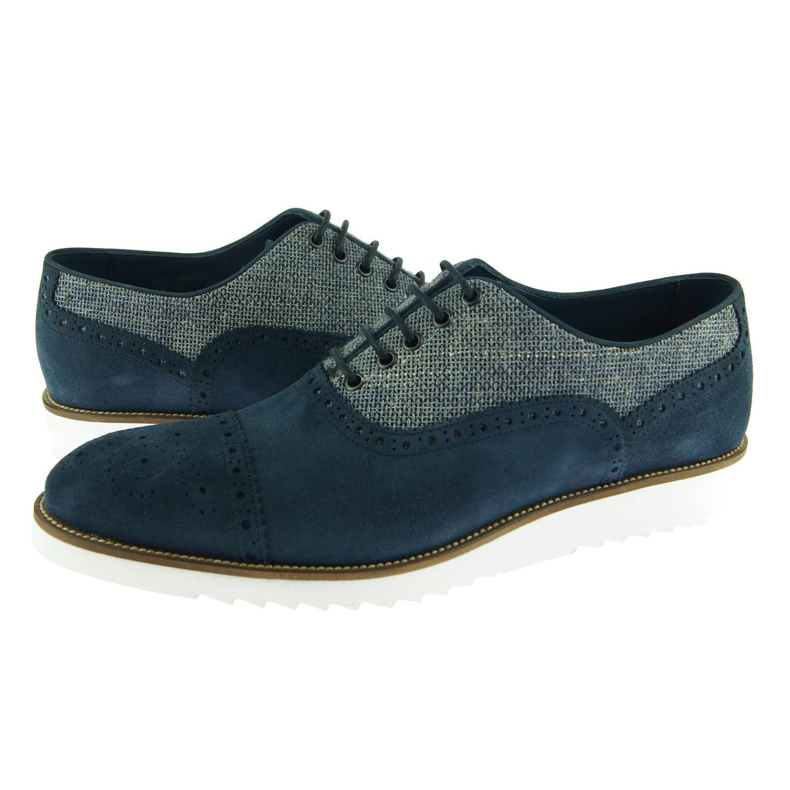 Alex D  Hampton  Brogue Oxford, Men's Dress Casual shoes, bluee Suede