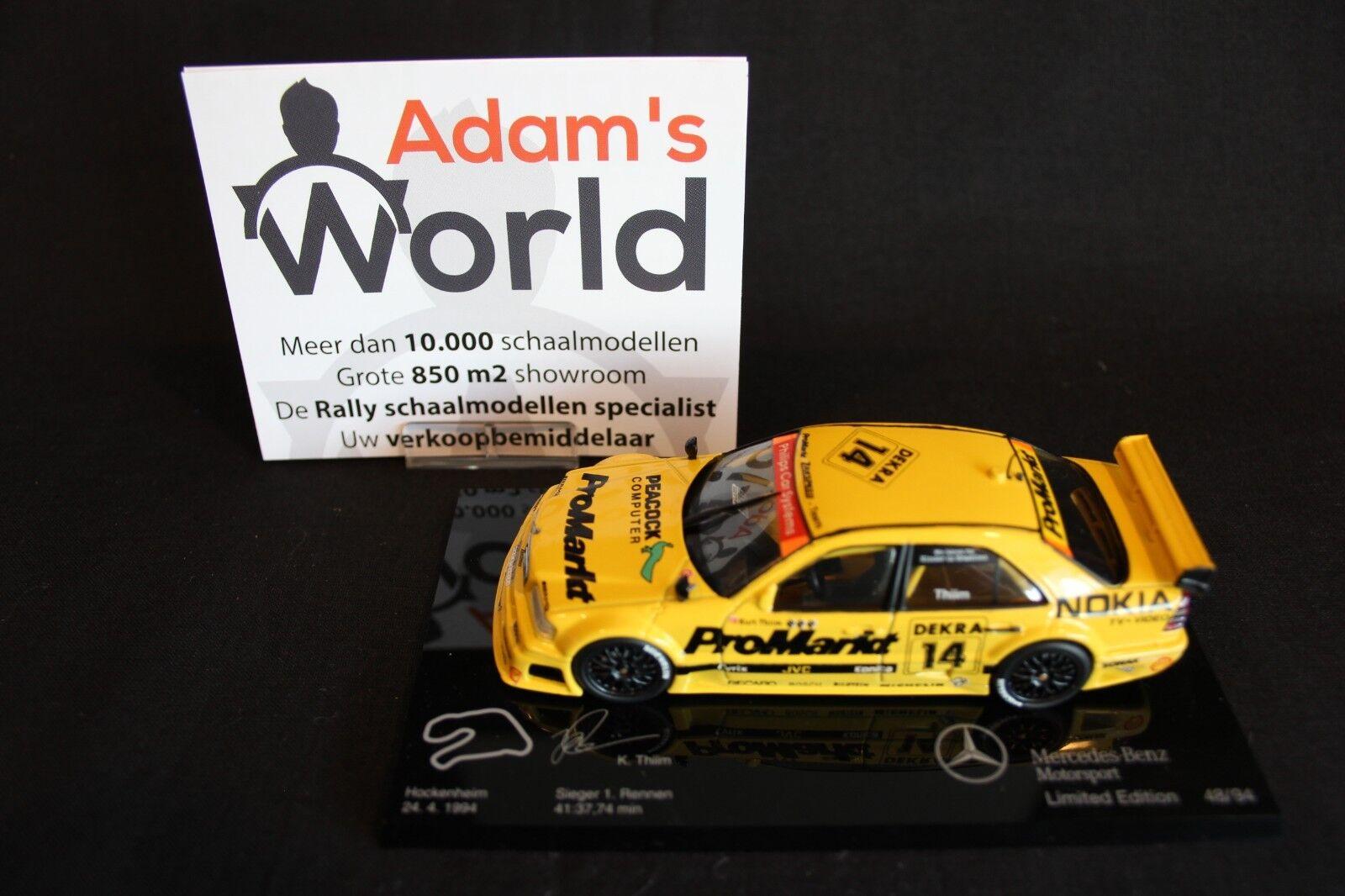 negozio online Minichamps AMG Mercedes C-classe C-classe C-classe DTM 1994 1 43  14 Kurt Thiim  48  94 (JS)  con il prezzo economico per ottenere la migliore marca