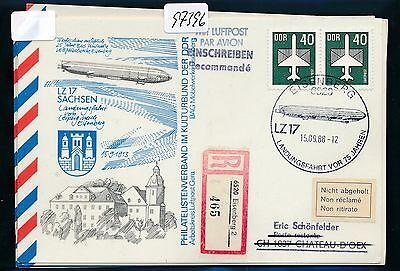 Sammlung Hier 97396) Ddr Zeppelin Landungsfahrt Leipzig - Eisenberg, So-kte Reco 1988 Mef > Ch