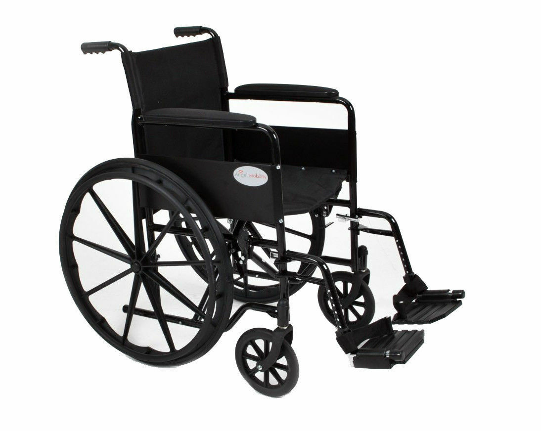 Lightweight Folding Self Propelled Wheelchair, removable footrests
