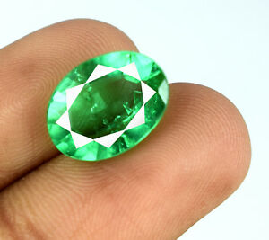 Muzo-Colombian-Emerald-100-Natural-5-6-Ct-Transparent-Oval-Cut-AGI-Certified