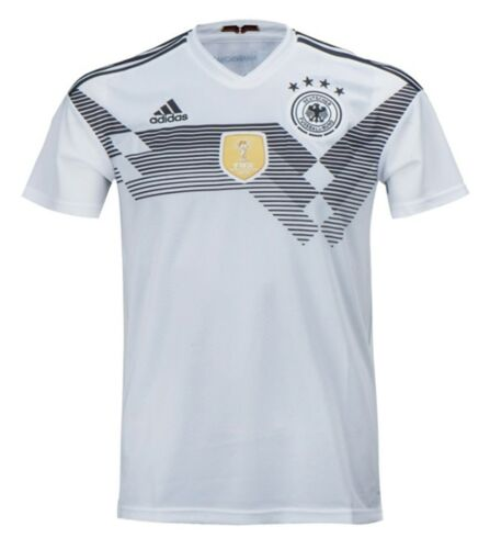 Adidas Men Germany 18//19 Home Replica National Shirts White Soccer Jersey BR7843