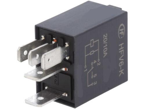 HFV6-K//012ZL-TR  HONGFA  Relay  Kfz-Relais SPDT 12VDC  30A  124R  NEW #BP 2 pcs