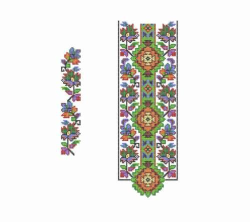 Flowers Cross stitch design. Machine Embroidery pattern