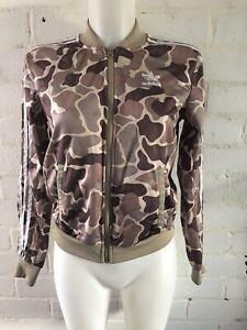 Adidas-Originals-Women-s-Tracksuit-Top-Size-4-Brown-Camo