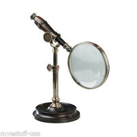 Magnifying Glass 3x With Stand, Duotone Bronzed By Authentic Models Ac099e
