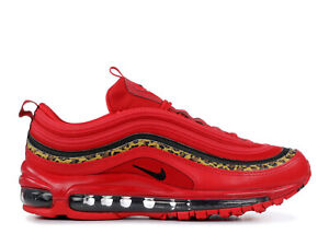 Details about Nike Women's Air Max 97 University Red Black Leopard Print BV6113 600