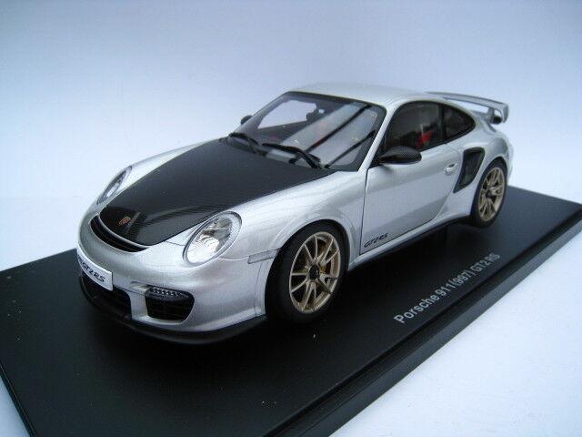 Porsche 911 (997) GT2  RS in argent  Autoart  Maßstab 1 18  NEU OVP  articles de nouveauté