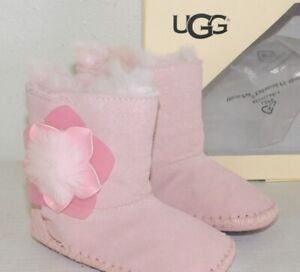 1cb04d244ae Details about NEW INFANT GIRLS SEASHELL PINK SMALL 2/3 UGG CASSIE CACTUS  FLOWER BOOTIES BOOTS