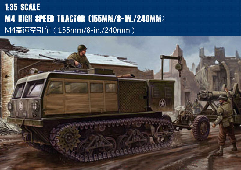 82408 Hobby Boss 1 35 M4 High Speed Tractor 155mm 8-in. 240mm Car Vehicle Model