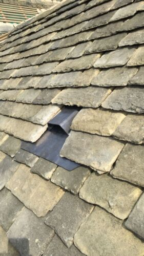 Traditional lead Roof vent with pipe on the back Designed to fit all roof types