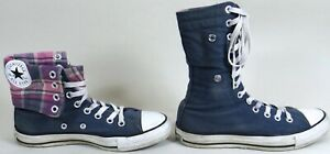 Shoes Sneakers Blue w Pink Plaid Men