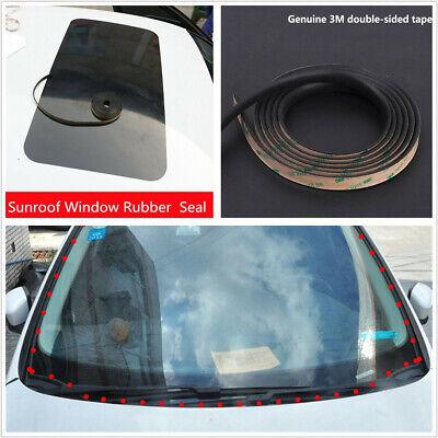 Piaobaige 2m DIY Car Window Sealant Rubber Stickers Sunroof Triangular Window Sealed Strips Seal Trim Car Front Rear Windshield Stickers