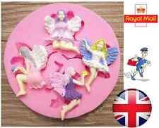 Fairy Angel Chica De Navidad De Silicona Molde Fondant Pastel Topper Modelado Herramientas