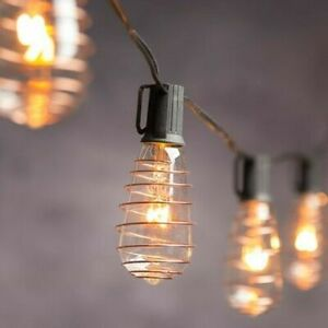 Cleveland Vintage Lighting String Lights With 10 Copper Plated Edison Bulbs