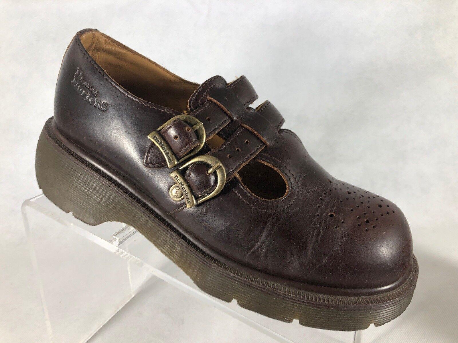 Dr. Martens damen braun Leather Leather Leather Mary Jane schuhe AW004 Größe 7. M2 baf0bc