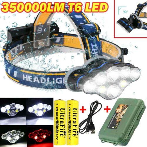 350000LM Rechargeable CREE XML T6 LED Headlamp Headlight Head Torch Flashlight