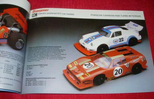 GRAUPNER 1978 ~ 79 Modèle Avions Bateaux et voitures catalogue-FSP 78/79