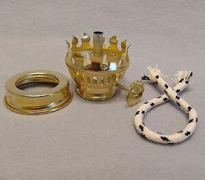 1 Brass Plated Pixie Oil Lamp Burner W Wick Amp Screw On