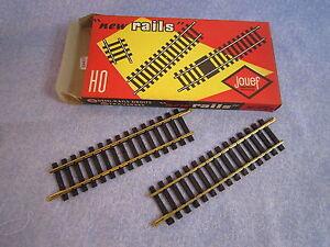 ZA413-JOUEF-2-DEMI-RAILS-DROITS-LAITON-15-TRAVERSES-REF-475-2-1-87