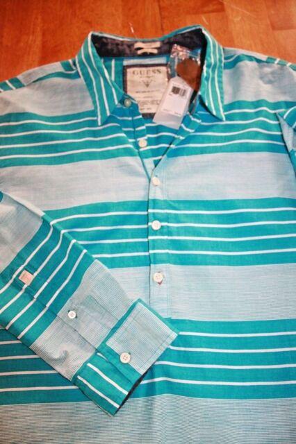 IKE By Ike Behar Mens Navy Linen Plaid Button-Down Shirt Top M BHFO 3487