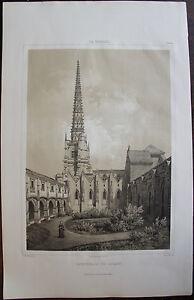 Soigneux La VendÉe, Baron De Wismes. Cathedrale De Lucon , Lithographie 1850.