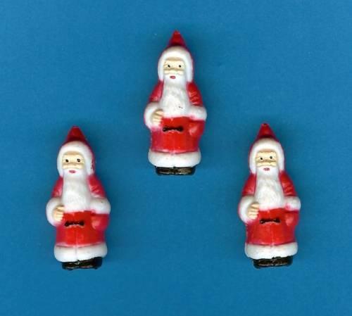 lot de 10 Père Noël//Santa traditionnel Gâteau Décorations//Décoration