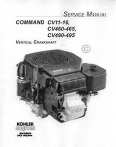 details about kohler command cv15 cv16 cv460 465 cv490 service manual kohler k301 wiring diagram wiring diagram for a model cv16s