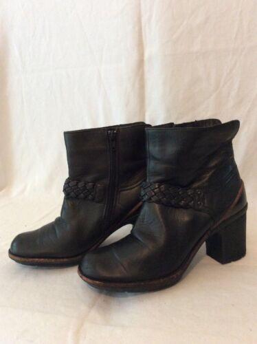 tamaño 5 cuero Botas 5d tobillo negro de Clarks XSqU16
