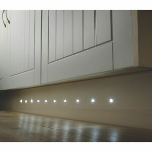 Mains Power white Complete Kit Plinth LED plinth Kit 36 Lumens