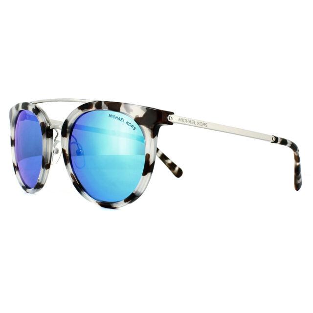 e782a00d0c90c Michael Kors Gafas de Sol Ila 2056 327525 Nieve Leopardo Cobalto Espejo