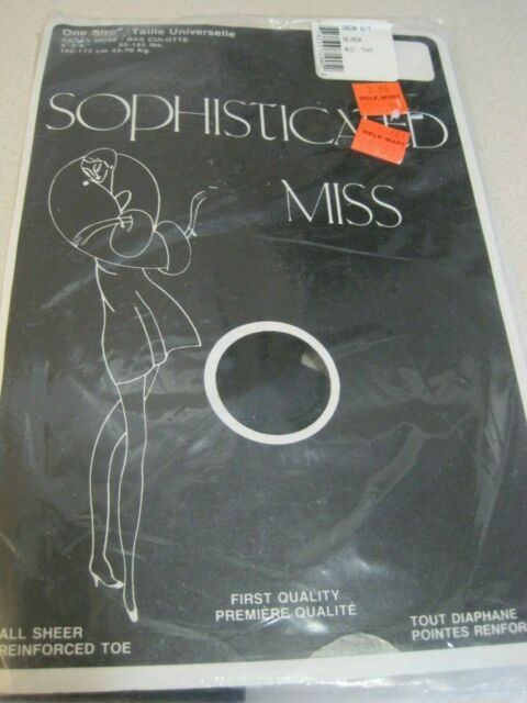 Pantyhose SOPHISTICATED MISS Vintage ALL SHEER One Size Black Canada Sealed