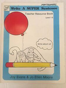 Details about Write A Super Sentence Teacher Resource Book Grade 1-3 Evan  Moor Homeschool PreK