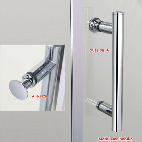 1600x700mm Sliding Shower Door Enclosure Cubicle Screen 6mm Glass FREE DELIVERY