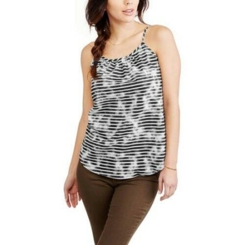 ab08e83e0b863 Faded Glory Women s Woven Cami Tank Top Arctic White Stripe Size XXL 20 for  sale online