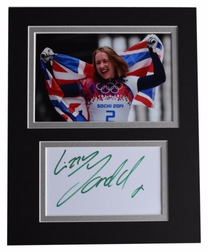 Lizzie Yarnold Signed Autograph 10x8 photo display Olympic Skeleton Sport COA