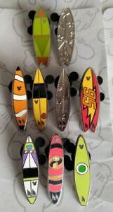 Surfboard-2018-Hidden-Mickey-Series-Set-DLR-WDW-Choose-a-Disney-Pin