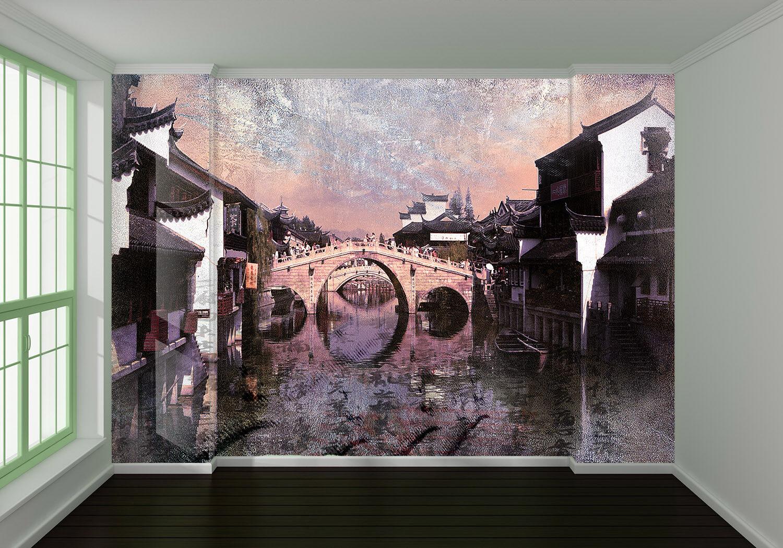 3D Bridge Sky 4003 Wallpaper Murals Wall Print Wallpaper Mural AJ WALL AU Kyra
