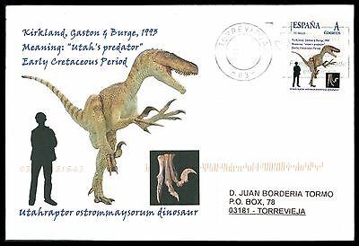 Spain Dinosaur Dinosaure Dinosaurier - Custom Stamp - Only 5 Cover Made!! Cg62