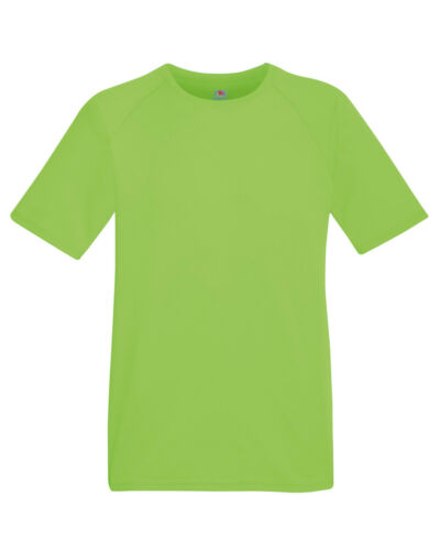 Fruit of the Loom MEN/'S GYM T-SHIRT SPORT TRAINING WICKING COOL BREATHABLE S-3XL
