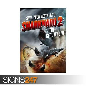 SHARKNADO-2-THE-SECOND-ONE-ZZ043-MOVIE-POSTER-Poster-Print-Art-A0-A1-A2-A3