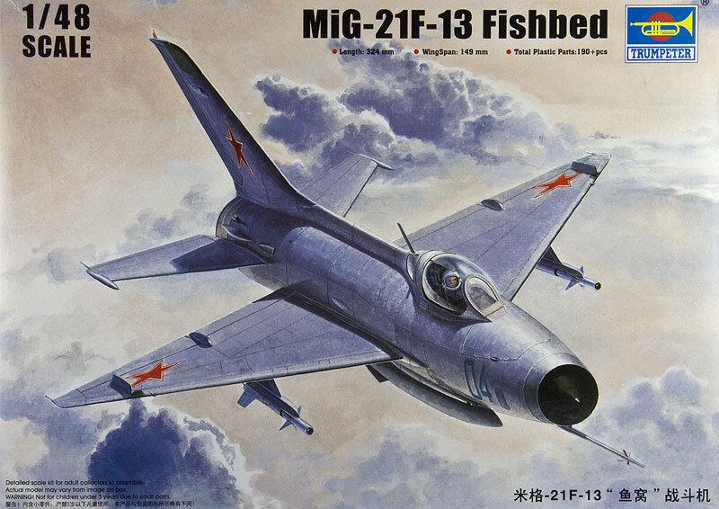 MIG 21F-13 FISHBED TRUMPETER 1 48 PLASTIC KIT