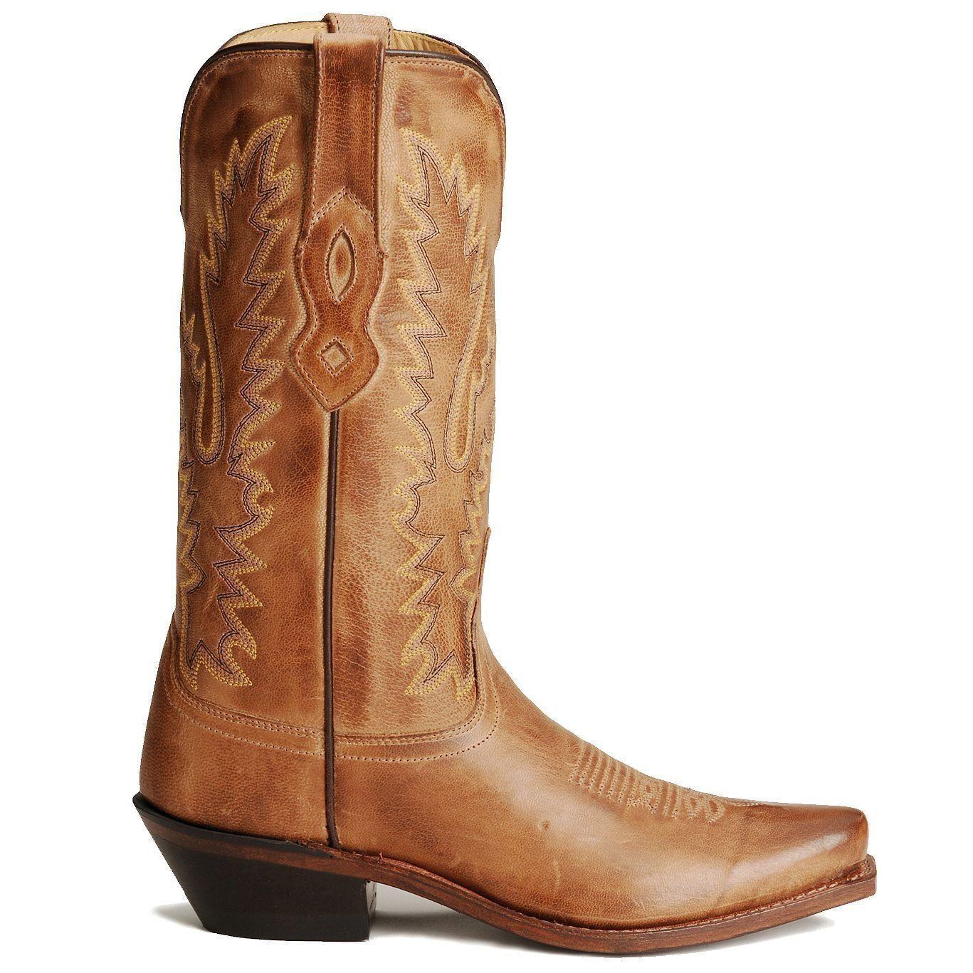 OLD WEST Stiefel LADIES DISTRESSED TAN COWBOY/COWGIRL WESTERN Stiefel WEST  LF1529 NIB 4102a0