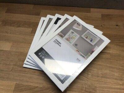 5 Stück Set IKEA FISKBO Bilderrahmen Fotorahmen weiß Neu /& OVP 10x15 cm Rahmen