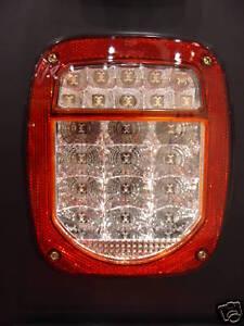 Fits Jeep Tj Cj Yj Mj Led Tail Lights Super Bright Clear