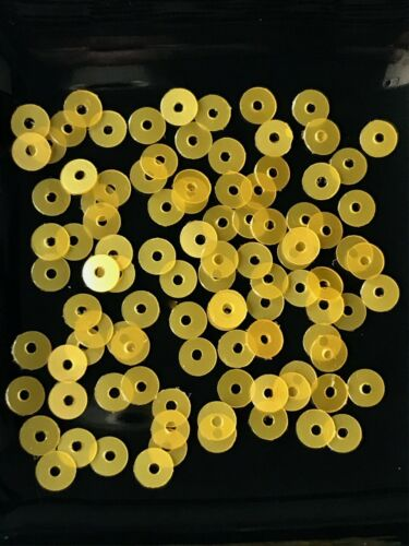 Sequins 4mm Sunny Yellow Pearl Soft Gloss Tiny Round Flat Choose Pack Size DIY