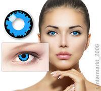Crazy Party&Fun Kontaktlinsen Contact lenses - BLUE VAMPIRE - 60 ml + Behälter