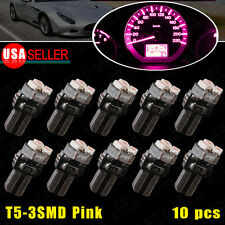 10X T5 3SMD Pink Purple Dash Gauge Speedometer Instrument LED Light 73 74 70 37